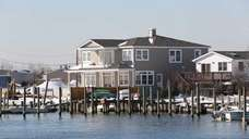 Waterfront homes near Seaman's Neck Park in Seaford