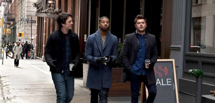 From left, Miles Teller, Michael B. Jordan and
