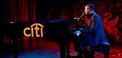 John Legend performs for Citi card members as