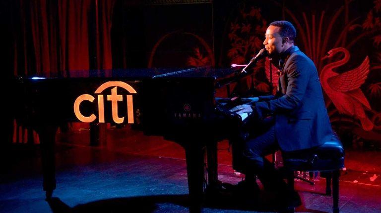 John Legend performs for Citi card members as
