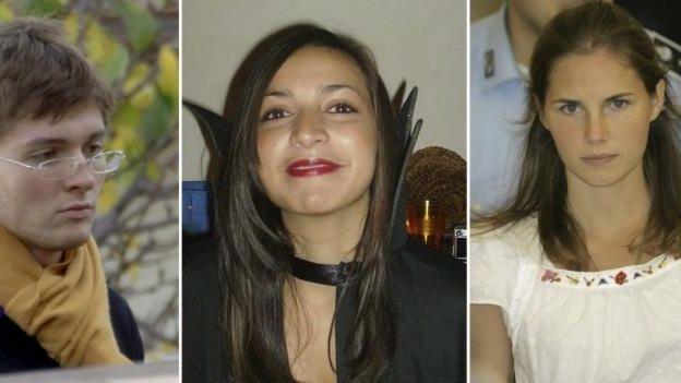 From left to right: Italian student Raffaele Sollecito;