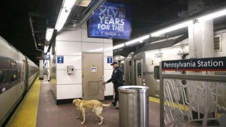 A Transportation and Security Administration (TSA), K-9 unit