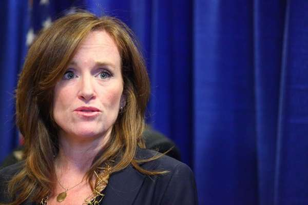 Nassau District Attorney Kathleen Rice in Mineola on
