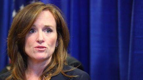 Nassau District Attorney Kathleen Rice in Mineola on