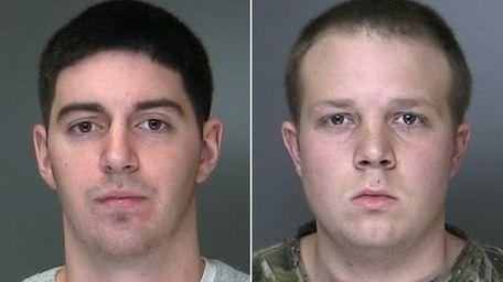 Matthew Rooney, left, and Paul Batterson Jr., right,