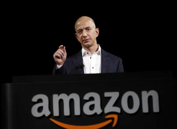 Jeff Bezos, chief executive and founder of Amazon,