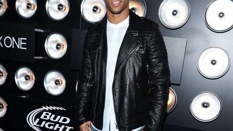 Professional football player Victor Cruz at the Bud
