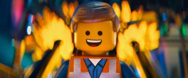 LEGO mini-figure Emmet (voiced by Chris Pratt) in