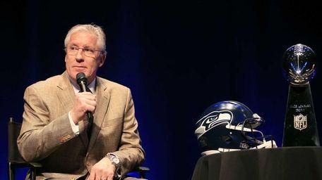 Head coach Pete Carroll of the Seattle Seahawks