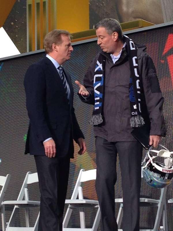 NFL commissioner Roger Goodell and NYC Mayor Bill