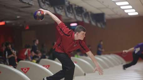 Sachem East's Nick Caruana in action during the