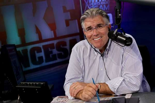WFAN long-time employee Mike Francesa, just before his