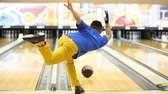 East Meadow's Jeffrey Juarez bowls during the Nassau