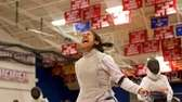 Valley Stream's Sabrina DeCopain reacts after winning the