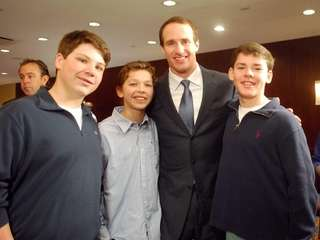 New Orleans Saints Quarterback Drew Brees with Kidsday