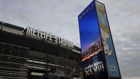 The exterior of Metlife Stadium before the start