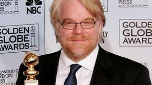 Actor Philip Seymour Hoffman backstage at the 63rd