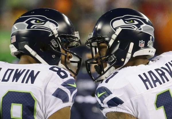 Seattle Seahawks' Doug Baldwin, left, and Percy Harvin