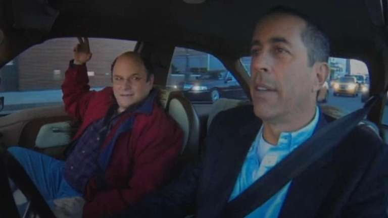 From left, (George Costanza) Jason Alexander and Jerry