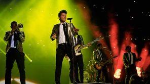 Bruno Mars performs during the Pepsi Super Bowl