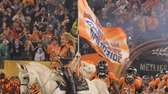 The Denver Broncos enter the field at Super