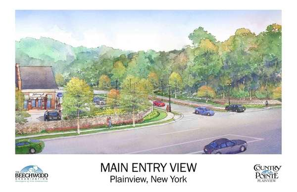 Country Pointe at Plainview conceptual renderings.