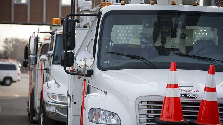 A PSEG Long Island truck in Hicksville in