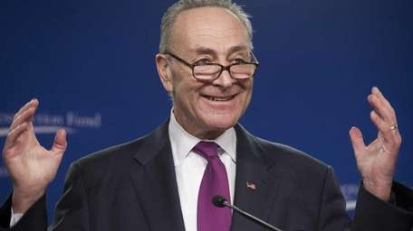 Sen. Chuck Schumer, of New York, speeks at