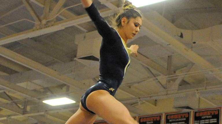 Sarah Ciresi of Bethpage performs her routine on