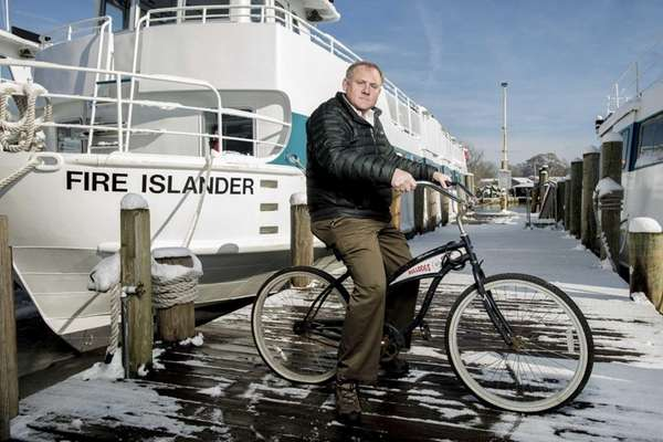 Councilman John Cochrane at the Ocean Beach ferry