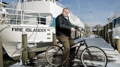 Councilman John Cochrane at the Ocean Beach ferry