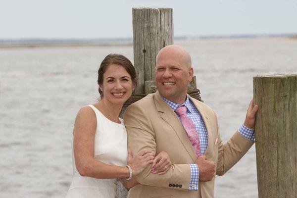 Chrissy and Joe Lanzisera on their wedding day