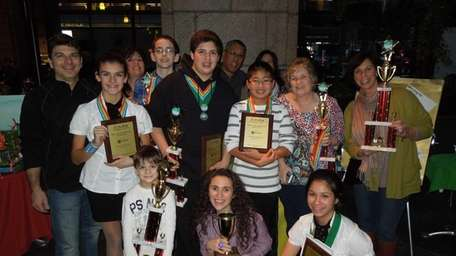 A team from Islip Middle School won first