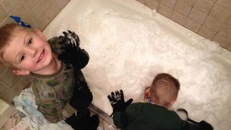 Theresa Sandler's two boys, ages 2 and 5,
