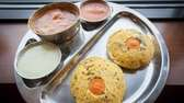 The Kangipuram iddly platter featuring cream of rice