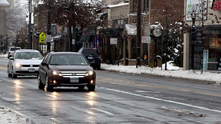 East Main Street in Smithtown is shown on