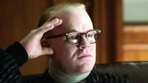 Philip Seymour Hoffman portrays author Truman Capote in