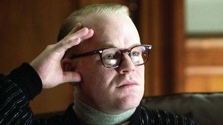 Philip Seymour Hoffman portrays author Truman Capote in