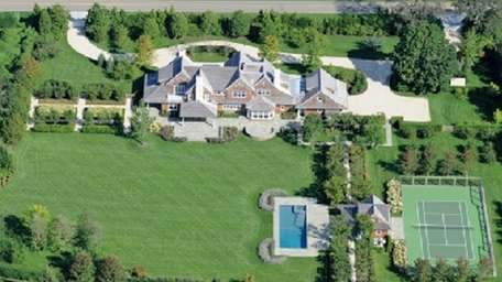 A newly constructed Sagaponack mansion on four acres