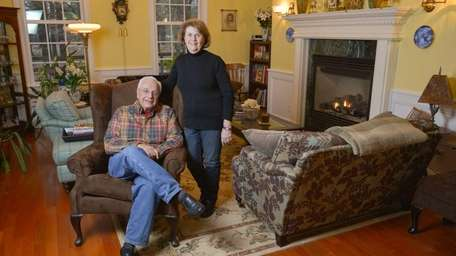 Andrew and Carolyn Malenda show the living room