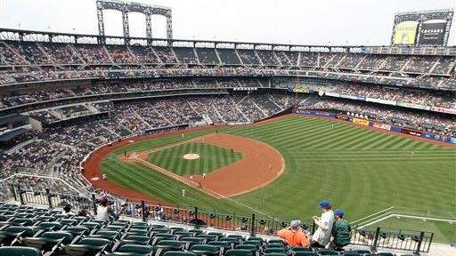 A view from above Citi Field in Flushing,