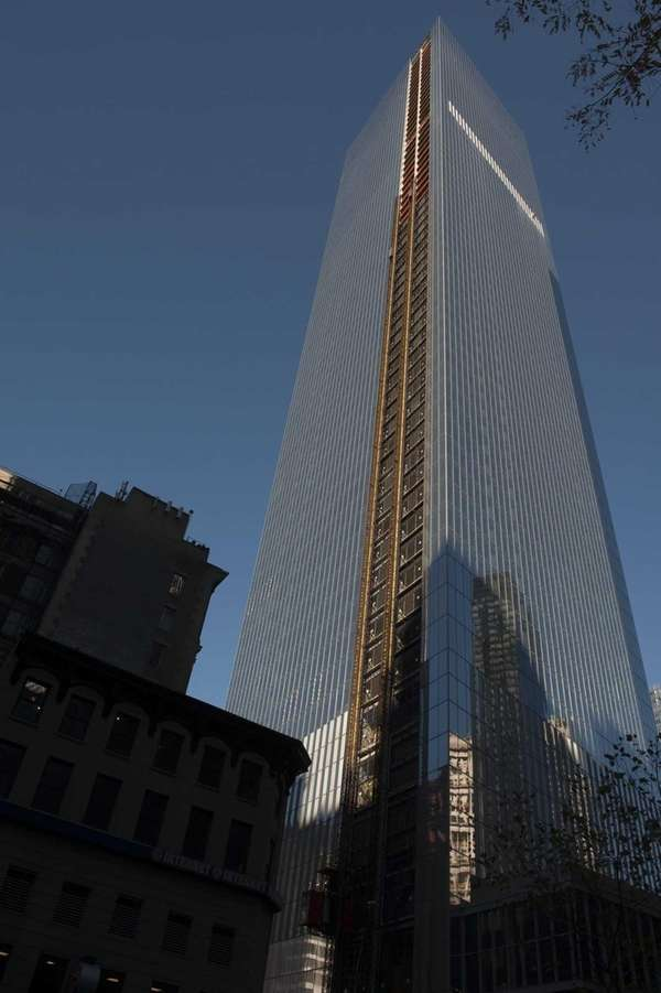 The exterior of 4 World Trade Center in