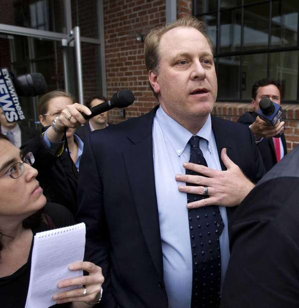 Former Red Sox pitcher Curt Schilling, center, is