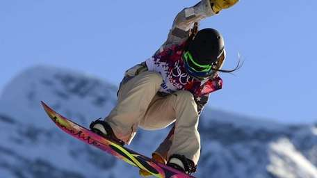 US Karly Shorr competes in the Women's Snowboard