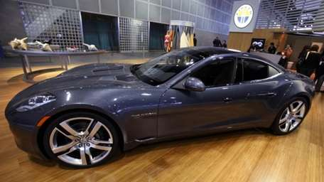 This Nov. 18, 2010, photo shows the Fisker