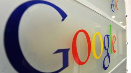 The logo in Google offices in Brussels on