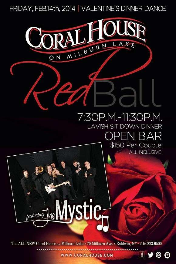 "The flyer for the upcoming ""Red Ball,"" set"