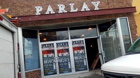 "Construction continues on the soon-to-open pub ""Parlay RVC"""