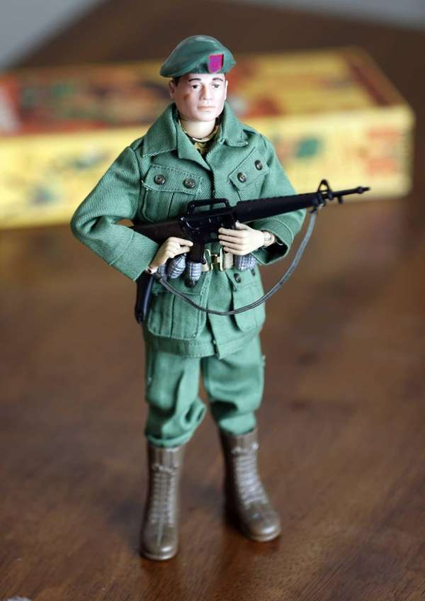 The iconic action figure which made its debut