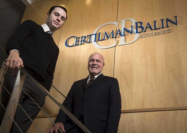 Certiman Balin attorneys' Samuel Horowitz and Bernard Hyman